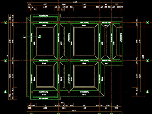 Bản vẽ móng băng nhà 2 tầng - Mẫu 8