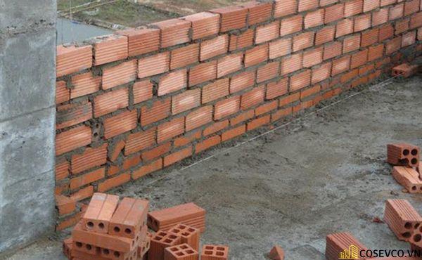 Định mức xây tường đối với gạch ống