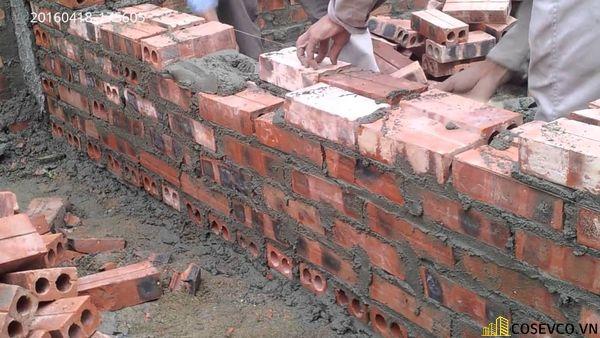 Định mức gạch xây tường 220