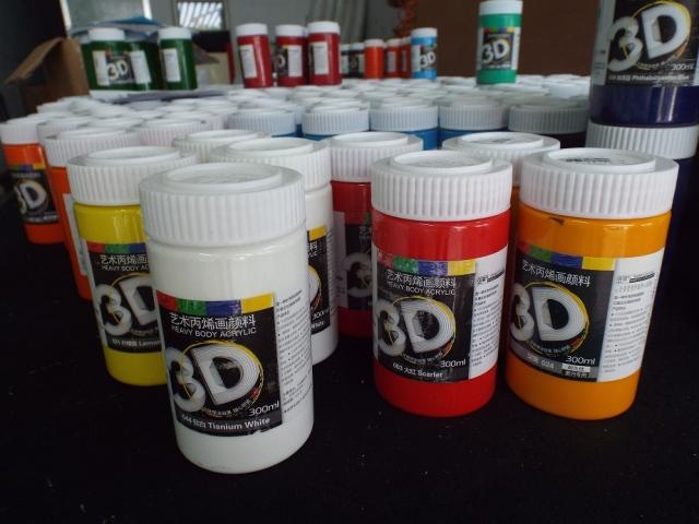Màu Acrylic 3D 300ml ( đủ tất cả các màu cơ bản )