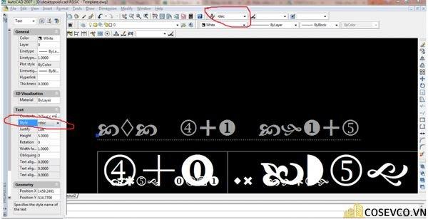 Ấn tổ hợp phím Ctrl +1 để mở Properties => Chọn đối tượng text lỗi