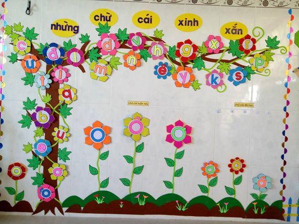 Cách làm hoa trang trí lớp học mầm non