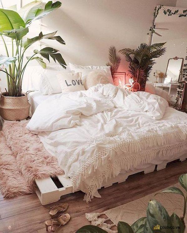 Mẫu trang trí phòng ngủ nhỏ cho nữ không giường - Cách 11