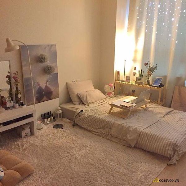 Mẫu trang trí phòng ngủ nhỏ cho nữ không giường - Cách 13