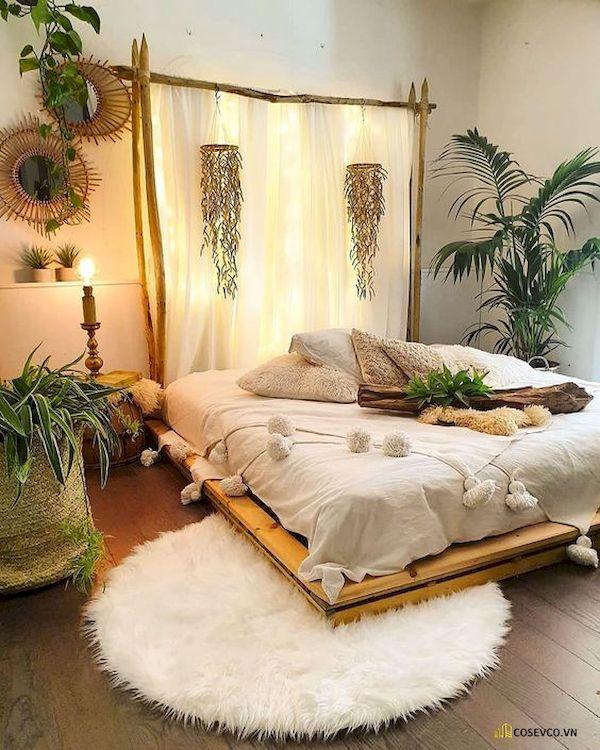 Mẫu trang trí phòng ngủ nhỏ cho nữ không giường - Cách 14