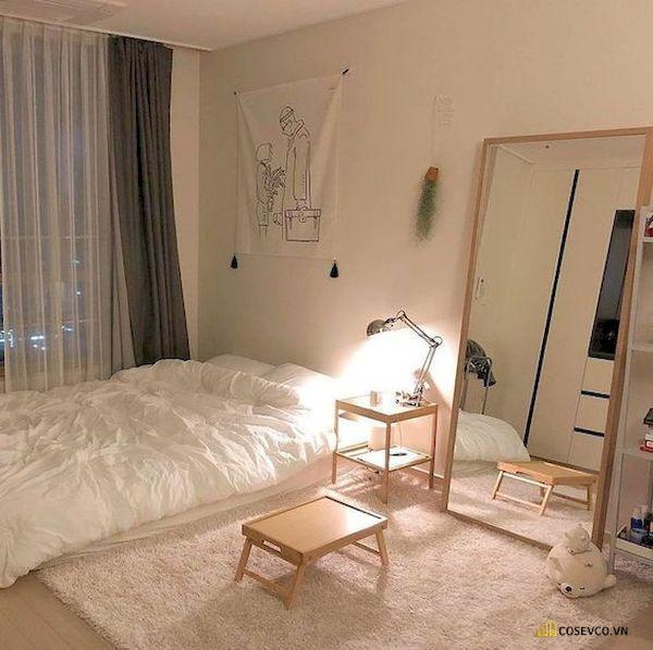 Mẫu trang trí phòng ngủ nhỏ cho nữ không giường - Cách 6