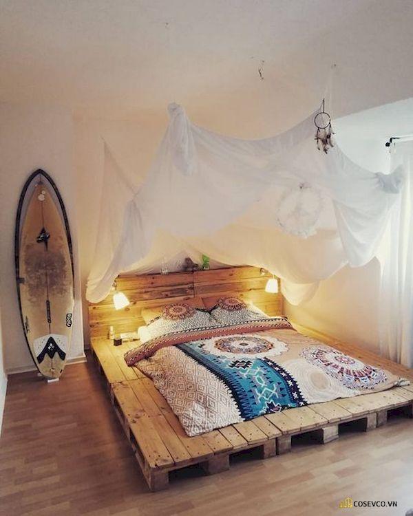 Mẫu trang trí phòng ngủ nhỏ cho nữ không giường - Cách 7
