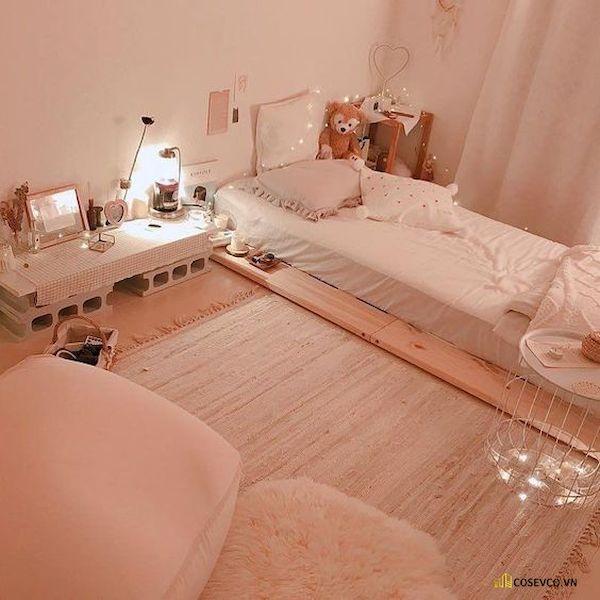 Mẫu trang trí phòng ngủ nhỏ cho nữ không giường - Cách 10