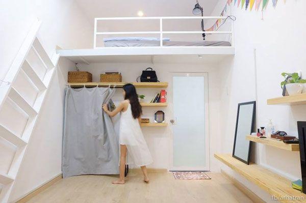 Sắp xếp, bố trí nội thất phòng trọ ngăn lắp