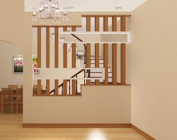 Xây vách ngăn phòng khách và bếp bằng gạch - Mẫu 3
