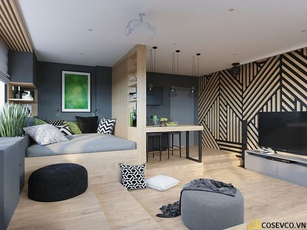 Phòng ngủ kích thước 25m2