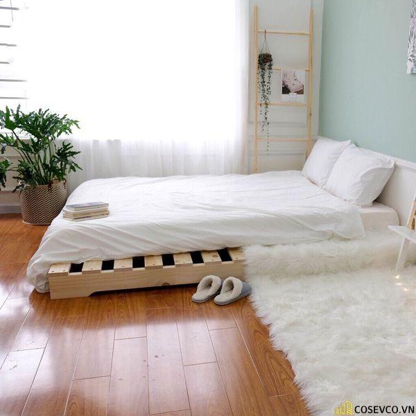 Giường có thể tùy chỉnh kích thước theo đúng ý bạn một cách đơn giản. Bằng cách thêm bớt những tấm gỗ theo mong muốn