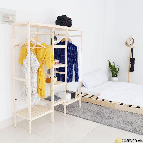 Giường pallet cực kỳ dễ phối với những đồ nội thất khác