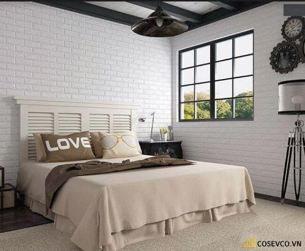 Trang trí phòng ngủ bằng xốp dán tường đẹp - Mẫu 5