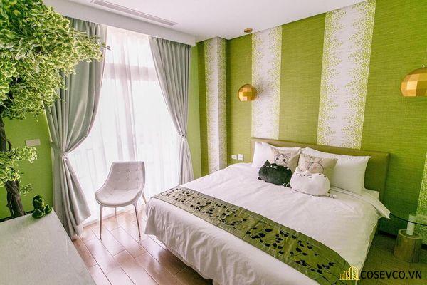 Trang trí phòng ngủ với rèm cửa