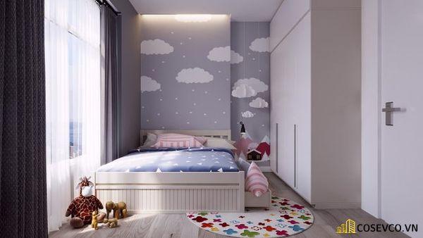 Mẫu trang trí phòng ngủ nhỏ bằng giấy dán tường - Mẫu 4