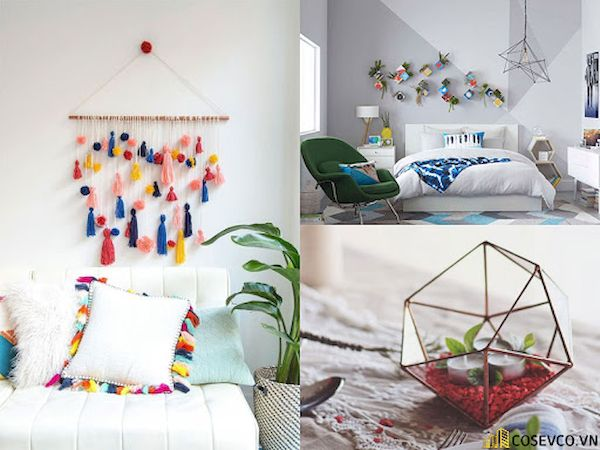 Sử dụng đồ handmade để tự trang trí phòng ngủ