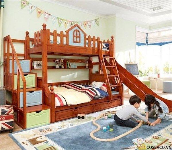 Giường tầng có cầu trượt dành cho bé trai - Hình ảnh 7