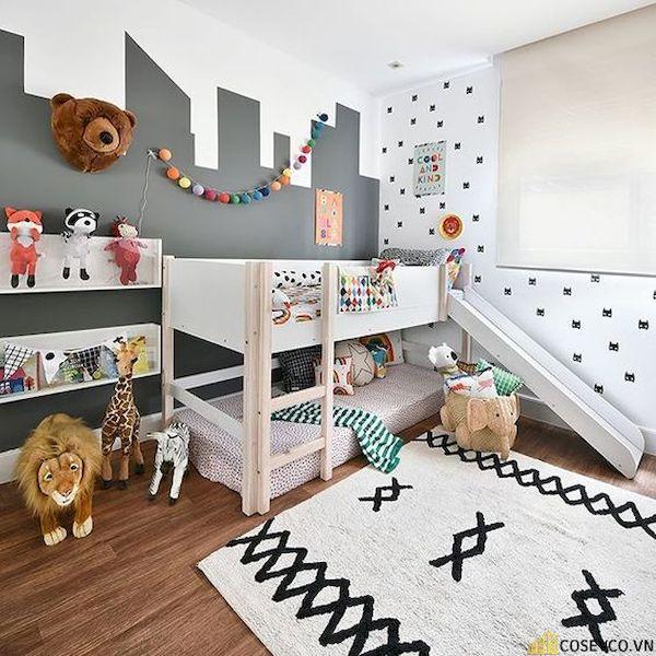 Giường tầng có cầu trượt dành cho bé trai - Hình ảnh 8