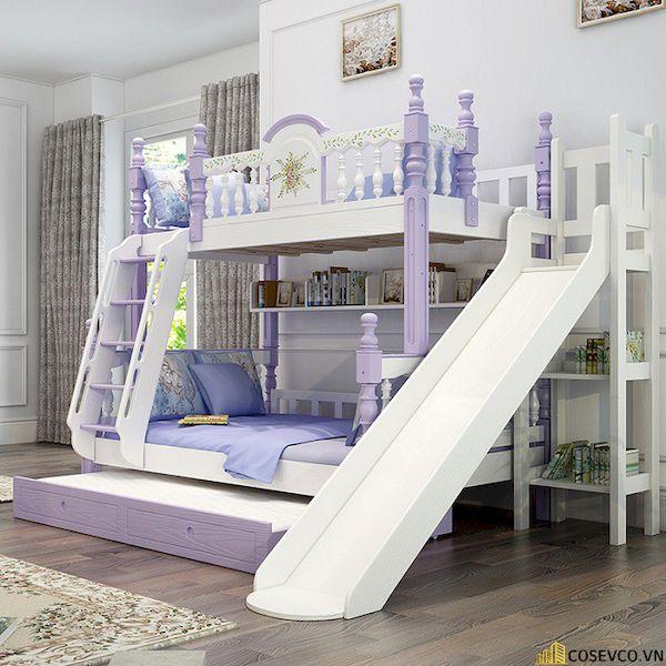 Giường tầng có cầu trượt dành cho bé gái - Hình ảnh 7