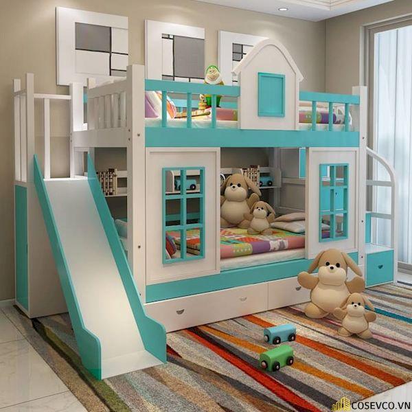 Giường tầng có cầu trượt dành cho bé trai - Hình ảnh 9