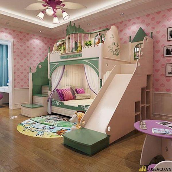 Giường tầng có cầu trượt dành cho bé gái - Hình ảnh 8
