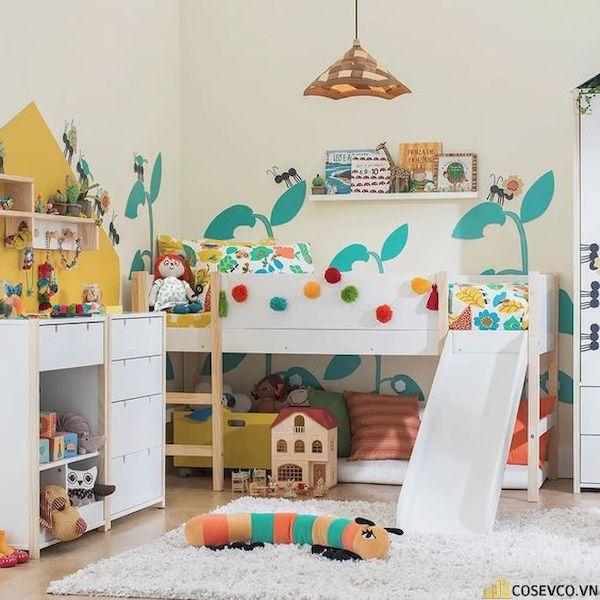 Giường tầng có cầu trượt dành cho bé trai - Hình ảnh 10