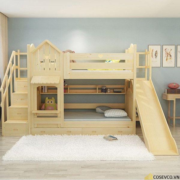 Giường tầng có cầu trượt dành cho bé trai - Hình ảnh 11