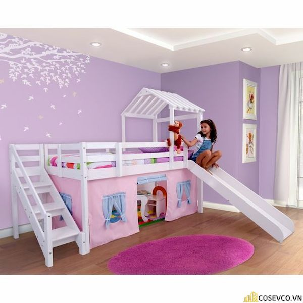 Mẫu giường tầng có cầu trượt đơn giản - Hình ảnh 9