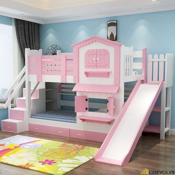 Thiết kế hình ngôi nhà tạo cảm giác như các bé đang được sống trong một lâu đài thu nhỏ của riêng mình