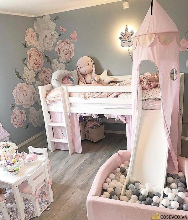 Giường tầng có cầu trượt dành cho bé gái - Hình ảnh 10