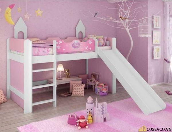 Giường tầng có cầu trượt dành cho bé gái - Hình ảnh 11