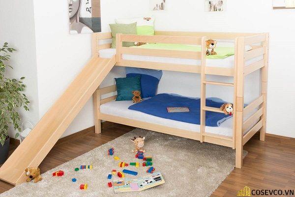 Giường tầng có cầu trượt dành cho bé trai - Hình ảnh 12