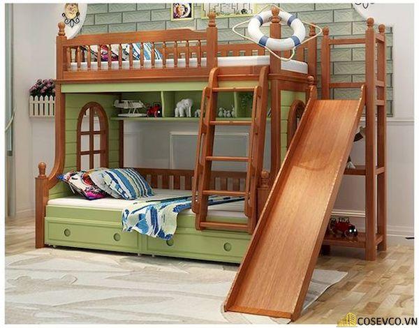 Giường tầng có cầu trượt dành cho bé trai - Hình ảnh 13