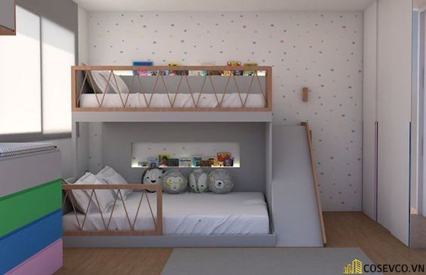 Giường tầng có cầu trượt dành cho bé trai - Hình ảnh 15