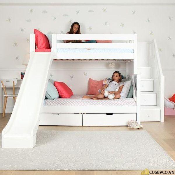 Giường tầng có cầu trượt dành cho bé trai - Hình ảnh 16