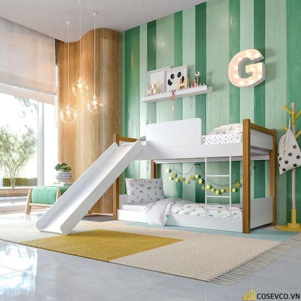 Giường tầng có cầu trượt dành cho bé trai - Hình ảnh 17