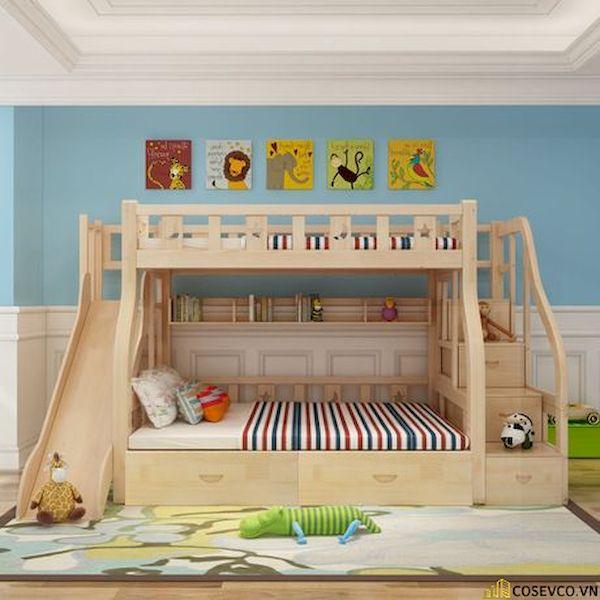Giường tầng có cầu trượt dành cho bé trai - Hình ảnh 18