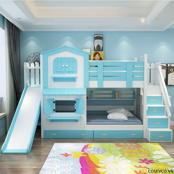 Giường tầng có cầu trượt dành cho bé trai - Hình ảnh 2
