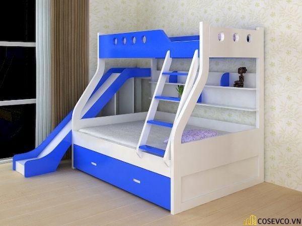 Giường tầng có cầu trượt dành cho bé trai - Hình ảnh 3