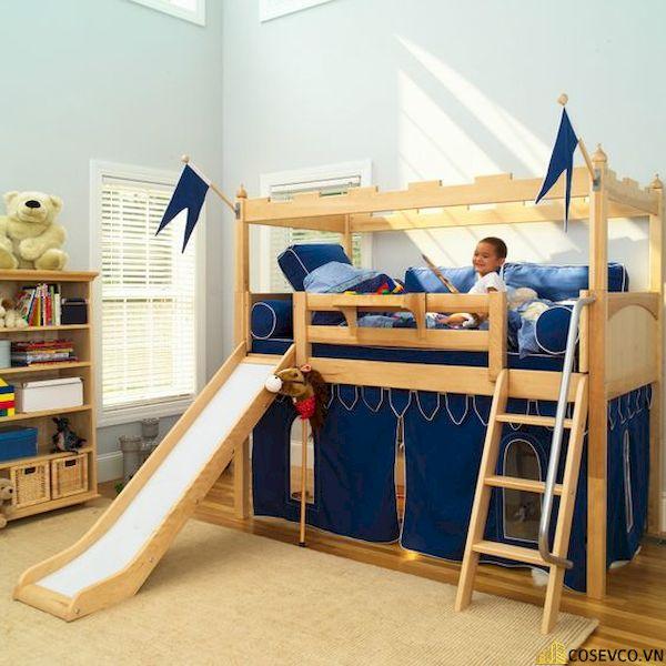 Giường tầng có cầu trượt dành cho bé trai - Hình ảnh 4