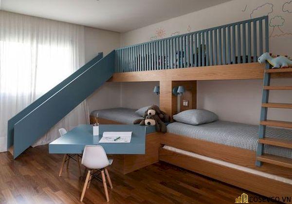 Giường tầng có cầu trượt dành cho bé trai - Hình ảnh 5