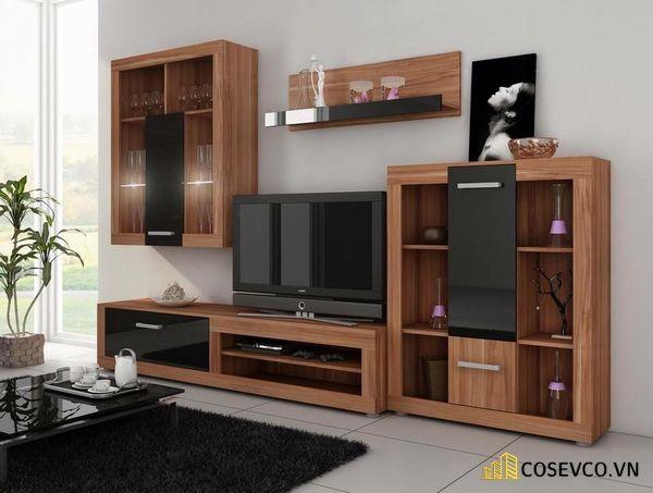 Mẫu thiết kế tủ tivi kết hợp tủ rượu hiện đại - Hình ảnh 3