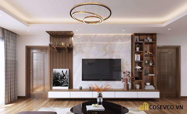 Mẫu thiết kế tủ tivi kết hợp tủ rượu hiện đại - Hình ảnh 4