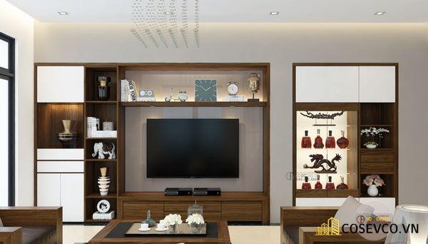 Mẫu thiết kế tủ tivi kết hợp tủ rượu hiện đại - Hình ảnh 7
