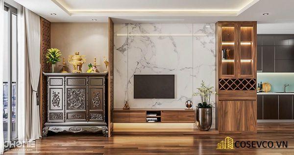 Mẫu thiết kế tủ tivi kết hợp tủ rượu hiện đại - Hình ảnh 8