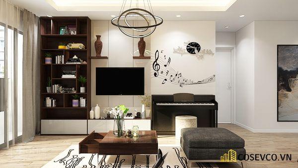 Mẫu thiết kế tủ tivi kết hợp tủ rượu hiện đại - Hình ảnh 9