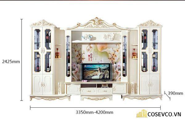 Kệ tivi kết hợp tủ rượu phong cách tân cổ điển - Hình ảnh 2