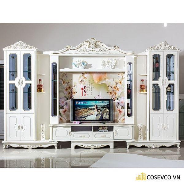 Kệ tivi kết hợp tủ rượu phong cách tân cổ điển - Hình ảnh 3