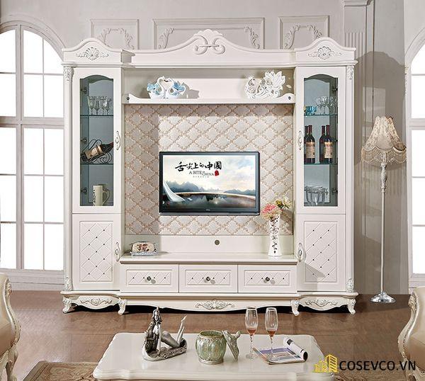 Kệ tivi kết hợp tủ rượu phong cách tân cổ điển - Hình ảnh 6